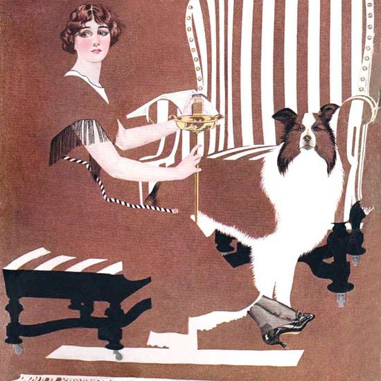 Detail Of Good Housekeeping August 1912 Coles Phillips | Best of Vintage Ad Art 1891-1970