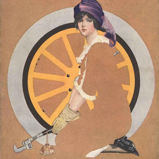 Detail Of Good Housekeeping August 1913 Coles Phillips | Best of Vintage Ad Art 1891-1970
