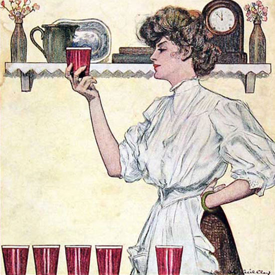 Detail Of Good Housekeeping Copyright 1908 Good Cheer Number | Best of Vintage Ad Art 1891-1970