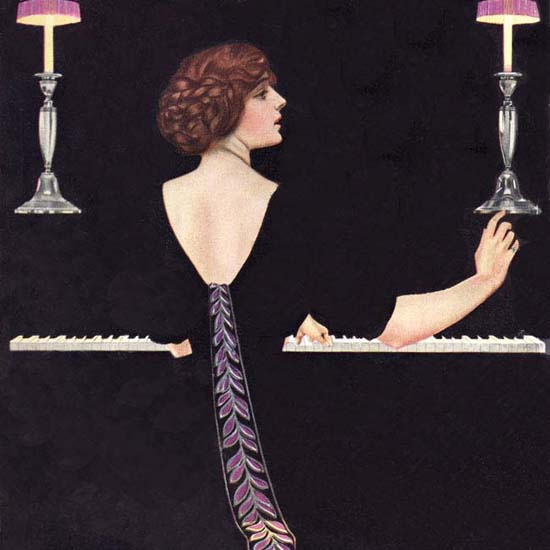 Detail Of Good Housekeeping Cover Copyright 1912 Achievement Coles Phillips | Best of Vintage Ad Art 1891-1970