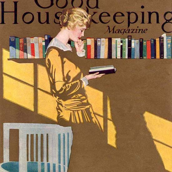 Detail Of Good Housekeeping Cover Copyright 1915 Coles Phillips | Best of Vintage Ad Art 1891-1970