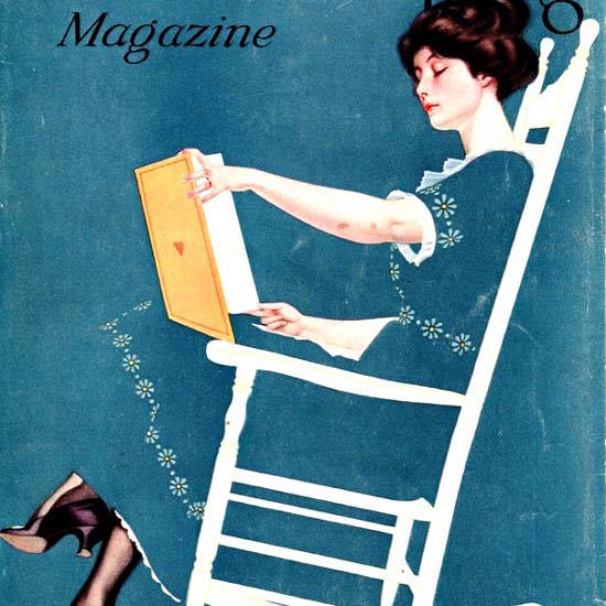 Detail Of Good Housekeeping Cover Copyright 1915 Fadeaway Coles Phillips | Best of Vintage Ad Art 1891-1970