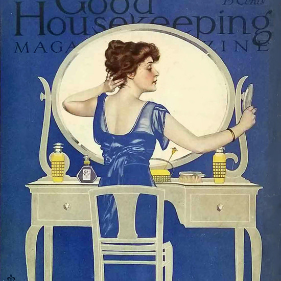 Detail Of Good Housekeeping March 1915 Coles Phillips | Best of Vintage Ad Art 1891-1970