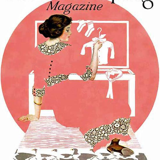 Detail Of Good Housekeeping November 1912 Coles Phillips | Best of Vintage Ad Art 1891-1970
