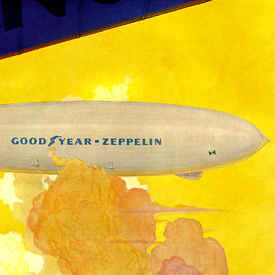 Detail Of GoodYear Airweel Zeppelin 1931 | Best of 1930s Ad and Cover Art