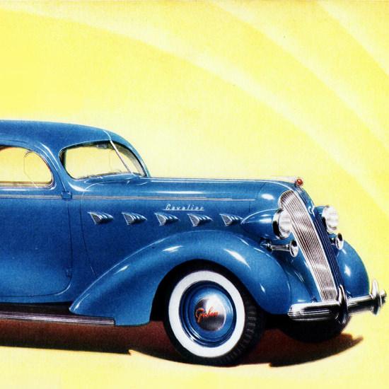 Detail Of Graham Cavalier Series 95  Sedan Trunk 1937 | Best of Vintage Ad Art 1891-1970