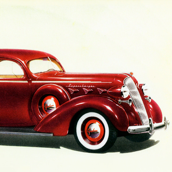 Detail Of Graham Custom Series 120 Supercharger 1937 | Best of Vintage Ad Art 1891-1970