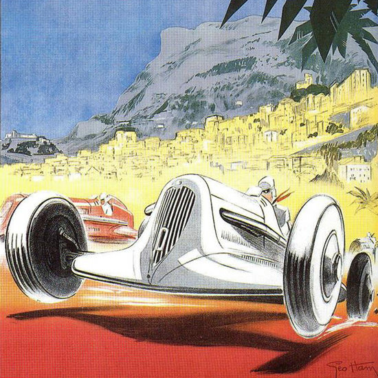Detail Of Grand Prix Automobile Monaco 1935 | Best of Vintage Ad Art 1891-1970