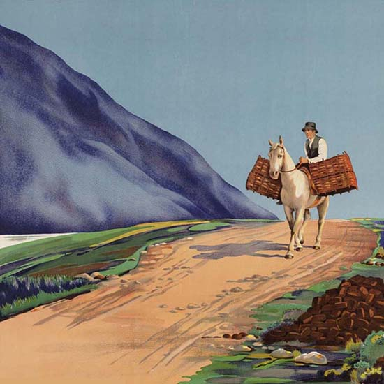 Detail Of Great Southern Connemar Ireland Old Bo Road | Best of Vintage Ad Art 1891-1970