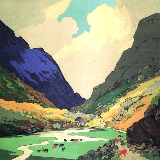 Detail Of Great Western Railway Southern Ireland 1931 | Best of 1930s Ad and Cover Art