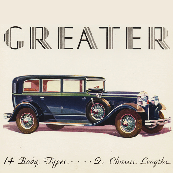 Detail Of Greater Hudson Seven P Sedan 1929 by Karl Godwin | Best of Vintage Ad Art 1891-1970