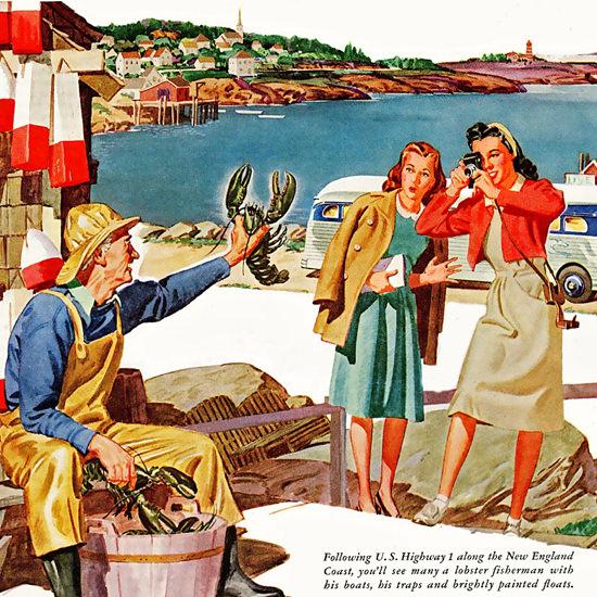 Detail Of Greyhound America Thrilling Friendly 1946 | Best of Vintage Ad Art 1891-1970