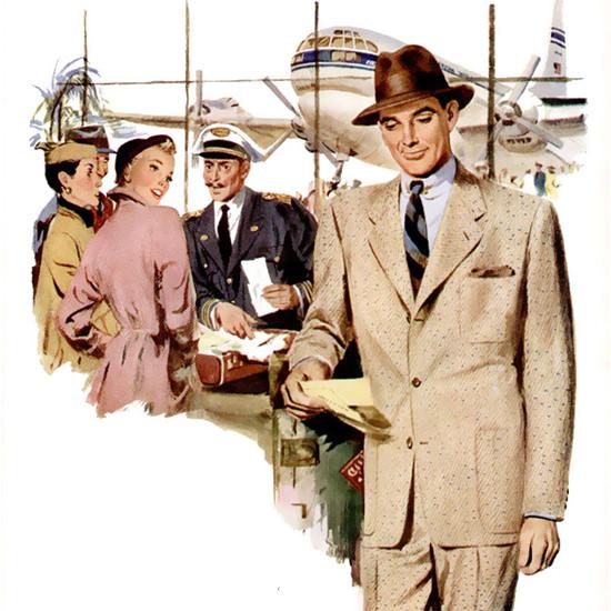 Detail Of Hart Schaffner Marx Suit | Best of Vintage Ad Art 1891-1970