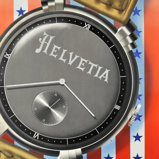 Detail Of Helvetia Watches No Trip Home Without 1948 | Best of Vintage Ad Art 1891-1970