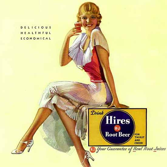 Detail Of Hires Root Beer Girl Three Ways To Go | Best of Vintage Ad Art 1891-1970