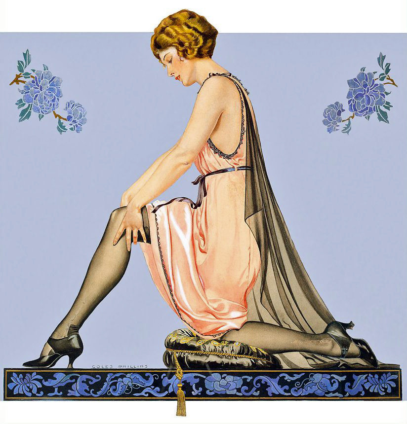 Detail Of Holeproof Hosiery Co 1922 Coles Phillips | Best of 1920s Ad and Cover Art