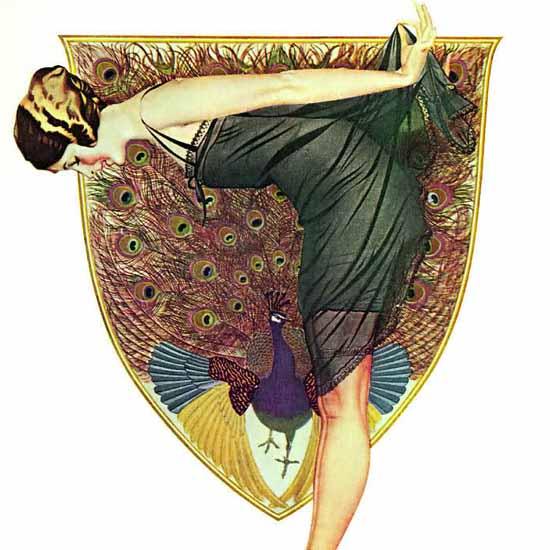 Detail Of Holeproof Hosiery Lustrous Beauty 1922 Coles Phillips | Best of Vintage Ad Art 1891-1970