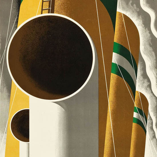 Detail Of Holland-America Comfort New Statendam 1929 | Best of Vintage Ad Art 1891-1970