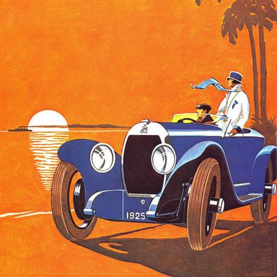 Detail Of Hotchkiss 1925 Blue | Best of Vintage Ad Art 1891-1970
