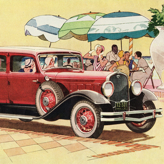 Detail Of Hudson Greater Eight Club Sedan 1931 | Best of Vintage Ad Art 1891-1970