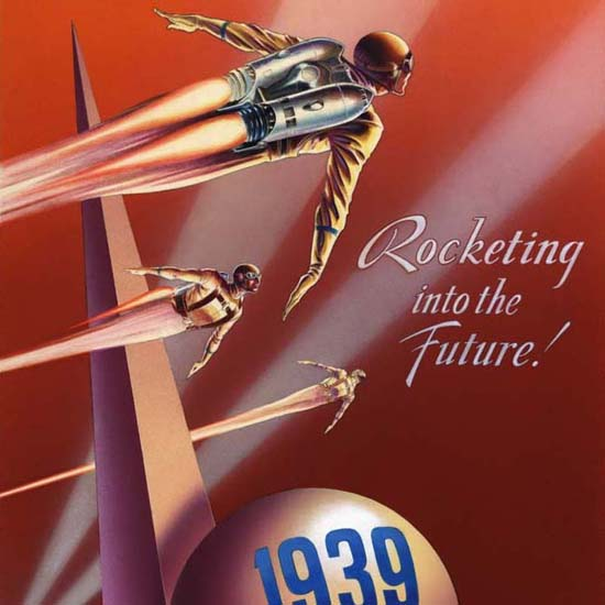 Detail Of Hughes Industries New York Worlds Fair 1939 | Best of 1930s Ad and Cover Art