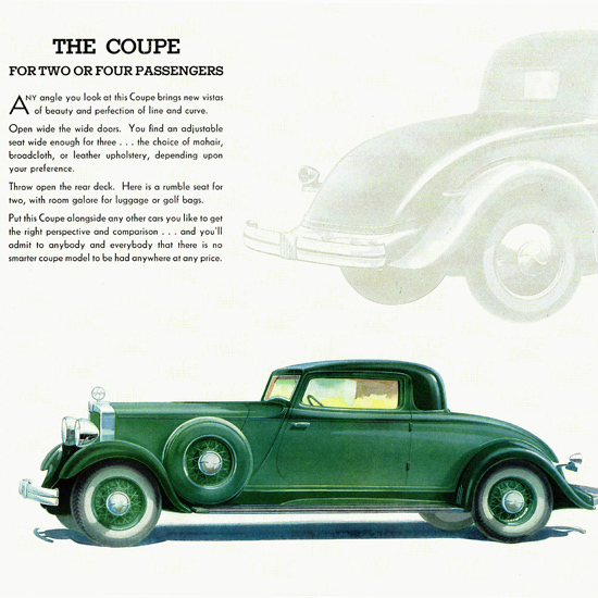 Detail Of Hupmobile 226 Coupe 1932 Any Angle Vistas | Best of Vintage Ad Art 1891-1970