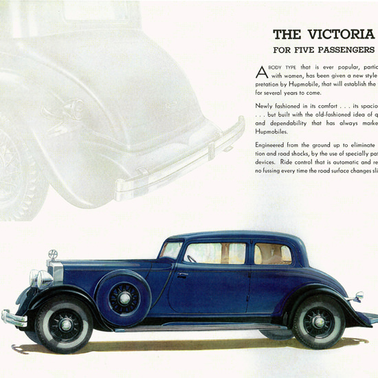 Detail Of Hupmobile 226 Victoria 1932 No Fussing | Best of Vintage Ad Art 1891-1970