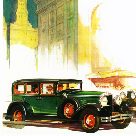 Detail Of Hupmobile Century 1928 Turning Point | Best of Vintage Ad Art 1891-1970