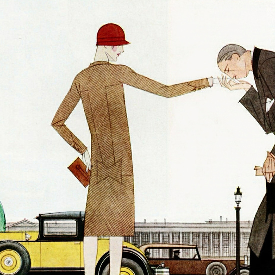Detail Of Hupmobile Century Cabriolet 1929 Paris by Bernard Boutet de Monvel | Best of 1920s Ad and Cover Art