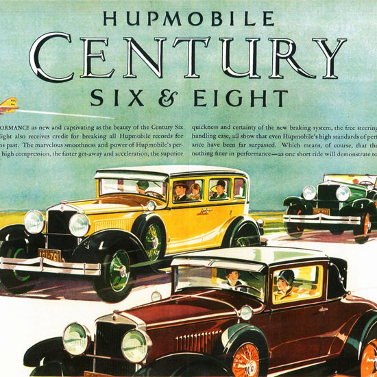 Detail Of Hupmobile Century Sedan Coupe Roadster 1928 | Best of 1920s Ad and Cover Art