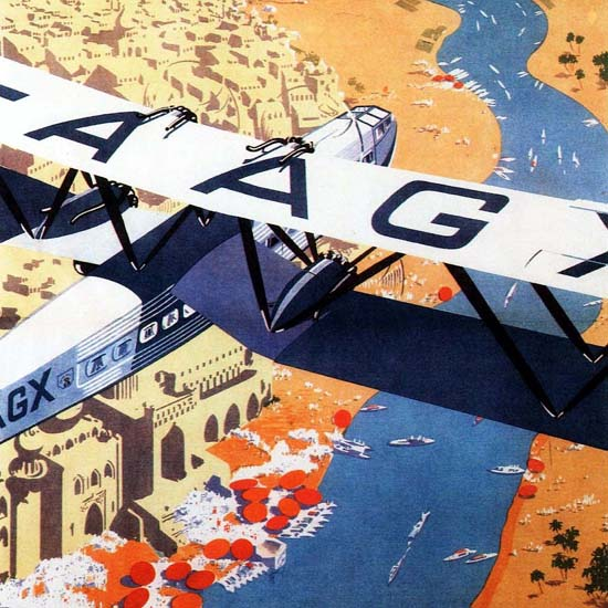 Detail Of Imperial Airways India 1930 | Best of 1930s Ad and Cover Art