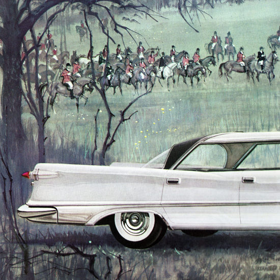 Detail Of Imperial Custom Southampton 1959 Hunting | Best of Vintage Ad Art 1891-1970