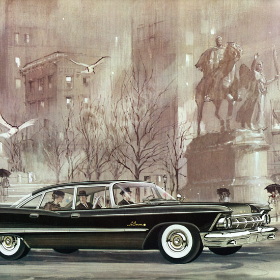 Detail Of Imperial LeBaron Sedan 1959 Driver Chauffeur | Best of Vintage Ad Art 1891-1970