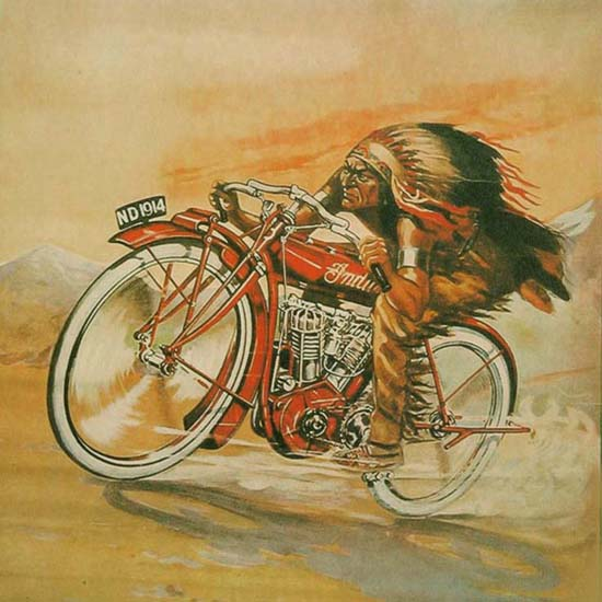 Detail Of Indian Motorcycles 1914 Speed Reliability | Best of Vintage Ad Art 1891-1970