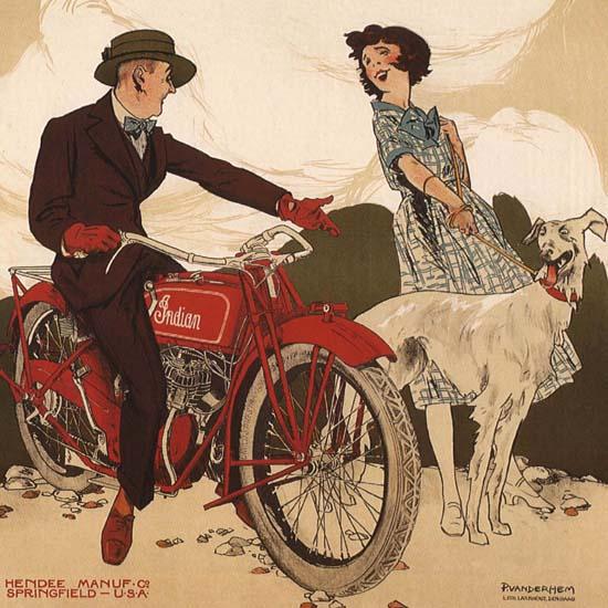 Detail Of Indian Motorrijwielen Rotterdam Netherlands | Best of Vintage Ad Art 1891-1970