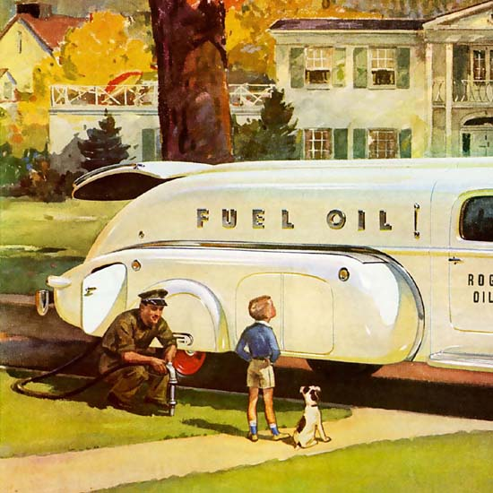 Detail Of International Trucks Harvester Chicago Fuel Oil | Best of Vintage Ad Art 1891-1970