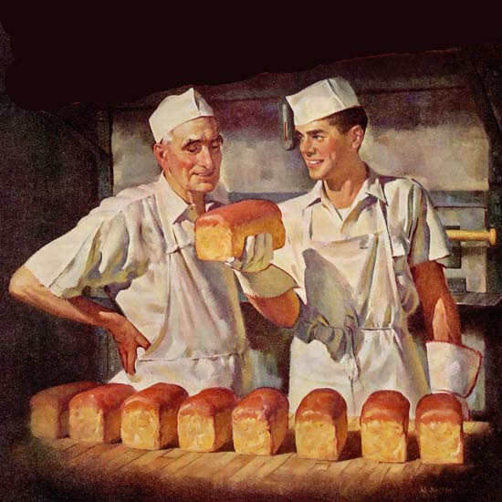 Detail Of It Takes A Baker 1948 | Best of Vintage Ad Art 1891-1970
