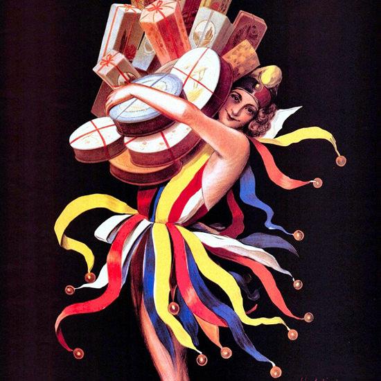 Detail Of Jacquin Paris La Folie Des Bonbons   Best of Vintage Ad Art 1891-1970