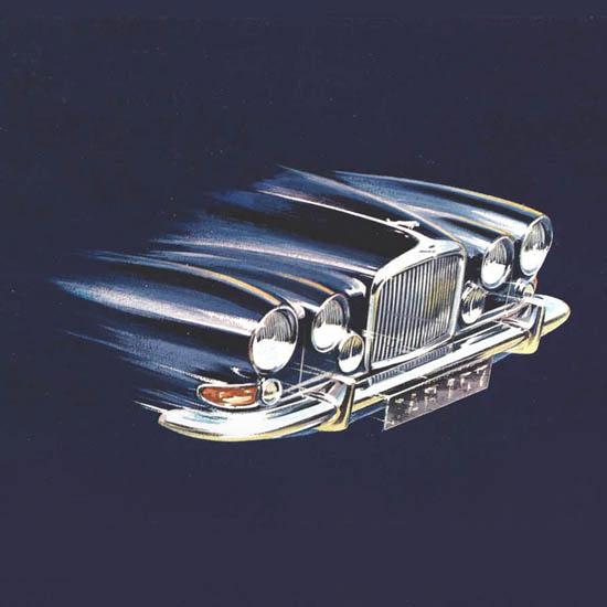 Detail Of Jaguar 4-2 Litre Mark Ten 1965 | Best of Vintage Ad Art 1891-1970
