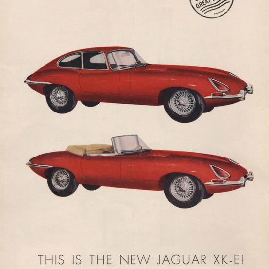 Detail Of Jaguar E-Type 1961-1963 XK-E Automobile | Best of Vintage Ad Art 1891-1970