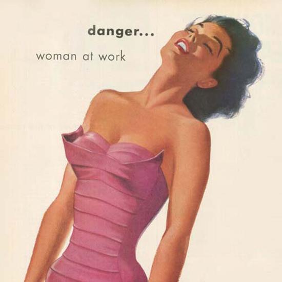 Detail Of Jantzen Swim Suits Curvallure Danger 1953 | Best of Vintage Ad Art 1891-1970