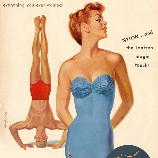 Detail Of Jantzen Swim Suits Everything You Ever Wanted | Best of Vintage Ad Art 1891-1970