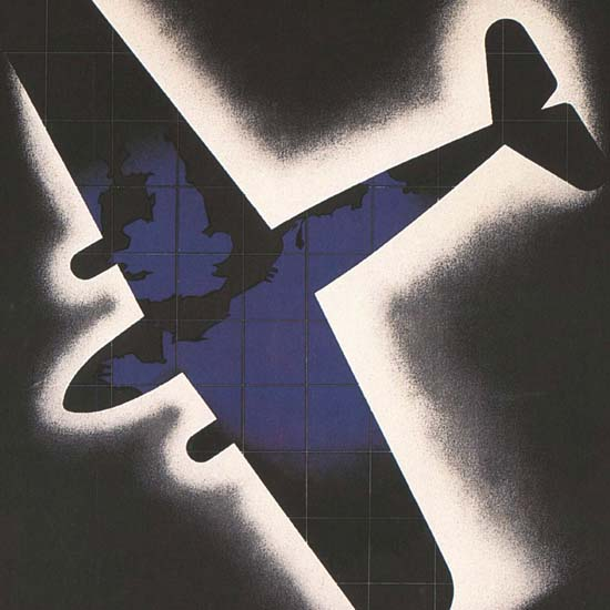 Detail Of KLM Hollande Belgique Extreme-Orient France | Best of Vintage Ad Art 1891-1970