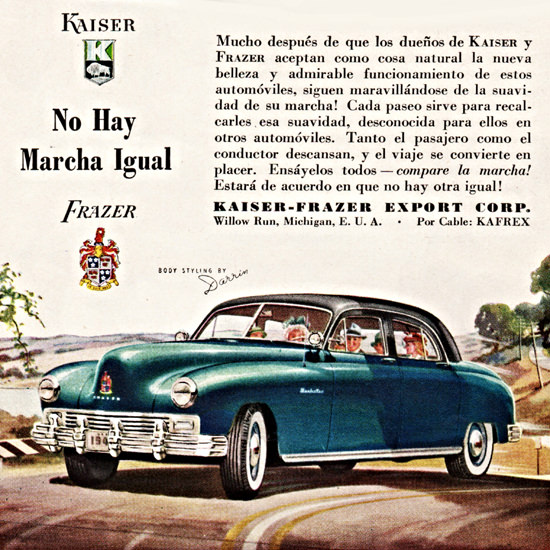 Detail Of Kaiser Frazer 1947 No Hay Marcha Igual | Best of Vintage Ad Art 1891-1970