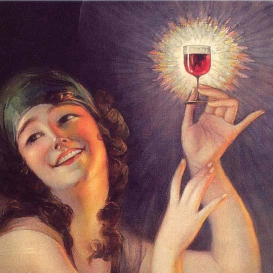 Detail Of Kozan Wine Bee Brand Japan | Best of Vintage Ad Art 1891-1970