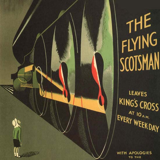 Detail Of LNER Take Me By The Flying Scotsman UK | Best of Vintage Ad Art 1891-1970