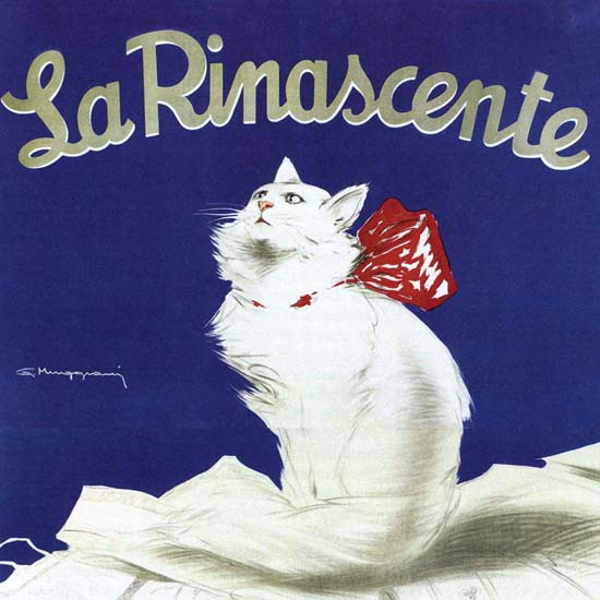 Detail Of La Rinascente Fierra Della Biancheria | Best of Vintage Ad Art 1891-1970