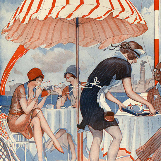 Detail Of La Vie Parisienne 1920s Hasard Decoratif page | Best of 1920s Ad and Cover Art