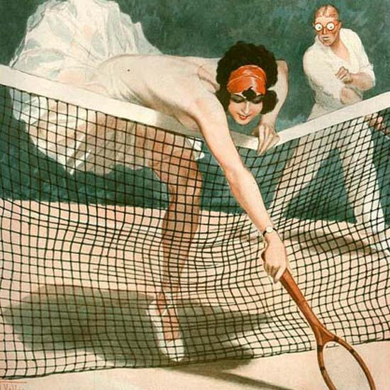 Detail Of La Vie Parisienne 1926 Tennis Effets Et Poses | Best of 1920s Ad and Cover Art