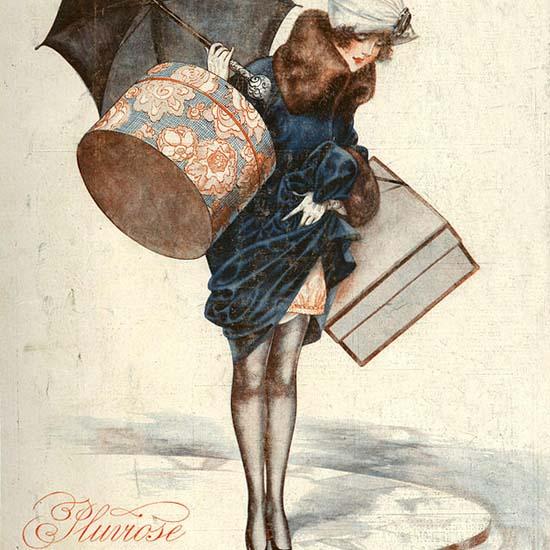 Detail Of La Vie Parisienne Pluviose Paris France | Best of Vintage Ad Art 1891-1970